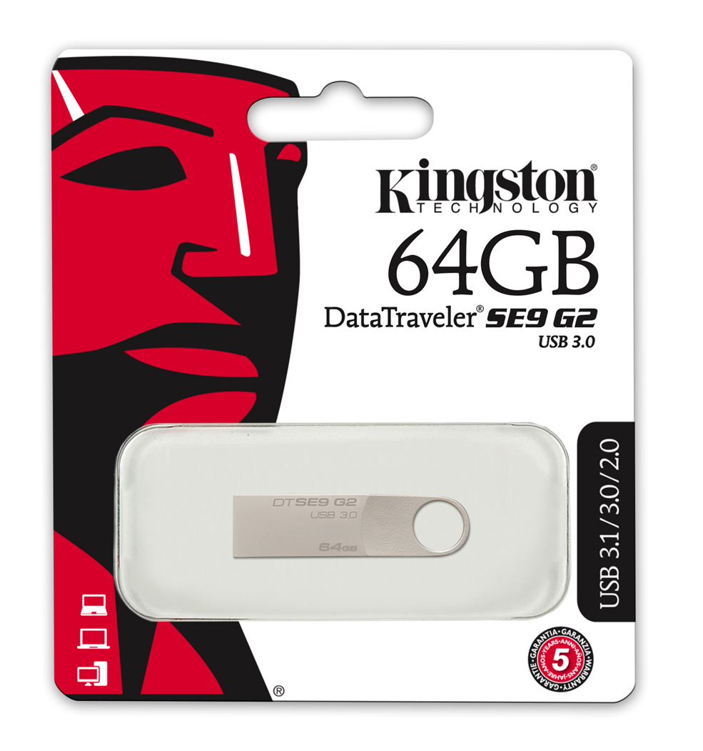 kingston 16gb 32gb 64gb 128gb datatraveler se9 usb flash. Black Bedroom Furniture Sets. Home Design Ideas
